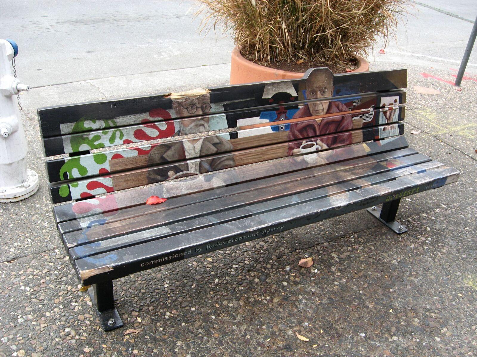 Fourth Street Art Bench