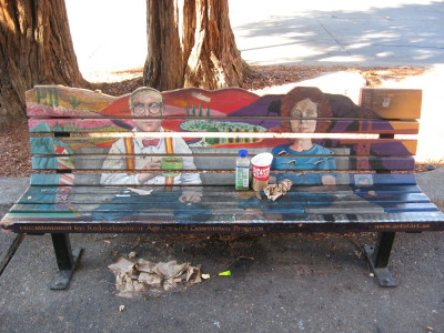 Fourth Street Art Bench