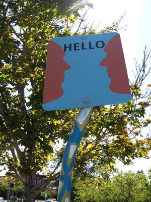 Hello Art Sign