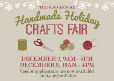 2017 Handmade Holiday Crafts Fair Vendor Applications Now Available