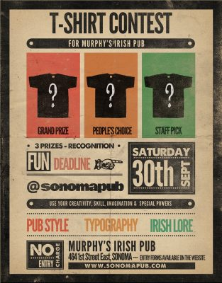 Murphy's Irish Pub T-Shirt Design Contest