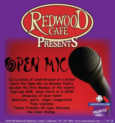 Open Mic Mondays at Redwood Cafe