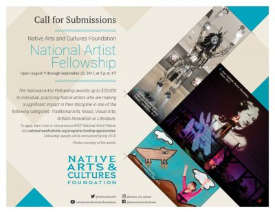 NACF National Artist Fellowships: Open Call!