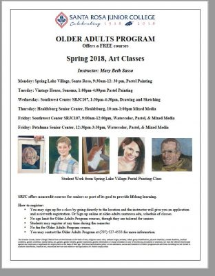 Free Art Classes for Older Adult Santa Rosa Junior College
