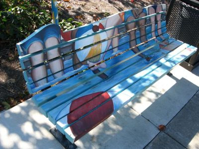 Finley Community Center Art Bench,