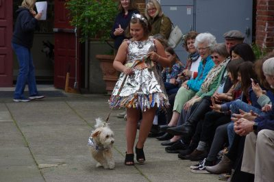 CALL FOR ART AND DOGS: Dogs on the Catwalk - Trashion Fashion Show for Dogs