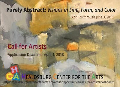 "CALL FOR ARTISTS: ""Purely Abstract: Visions in Line, Form, and Color"""