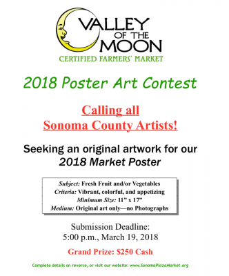CALL FOR ARTISTS: Poster Contest for Valley of Moon Certified Farmers' Market