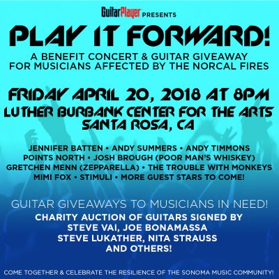 FIRE RELIEF: Guitar Giveaway - Guitar Player Magazine