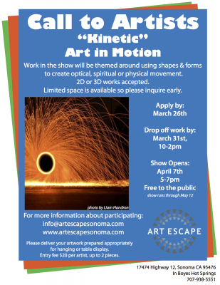 "Call To Artists: ""Kinetic"", Art in Motion"
