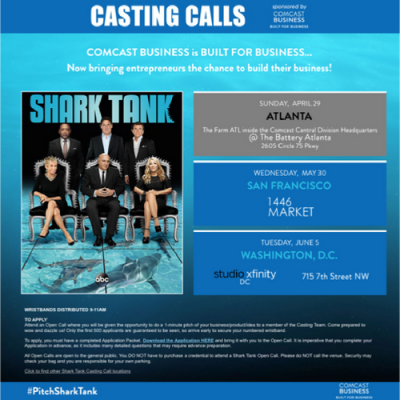 Shark Tank Casting Call in San Francisco