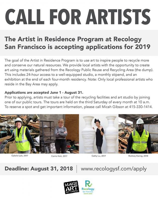 CALL FOR ARTISTS: Recology San Francisco Artist in Residence Program