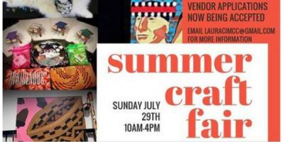 VENDOR OPPORTUNITY: Summer Craft Market