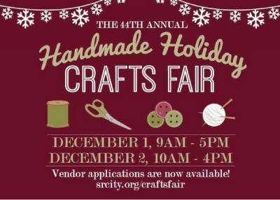 VENDOR OPPORTUNITY: Handmade Holiday Crafts Fair