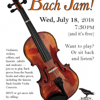 CALL FOR MUSICIANS - Bach Jam! at Ravel Theater
