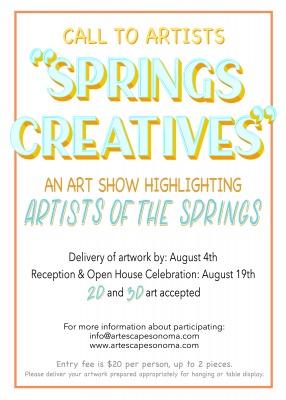 "CALL TO ARTISTS: ""Springs Creatives"""