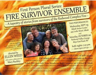 2018.10.20:  Fire Survivor Ensemble: First Person Plural Series special presentation