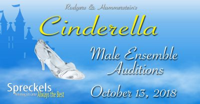 CALL FOR ACTORS:  Male Ensemble for Cinderella