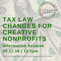 Tax Law Changes for Creative Nonprofits Information Session