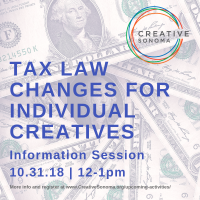 Tax Law Changes for Individual Creatives Information Session