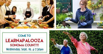 "PROFESSIONAL DEVELOPMENT: Come to ""Learnapalooza Sonoma County"" on 9/19!"