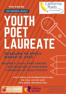 Seeking First Youth Poet Laureate of Sonoma County