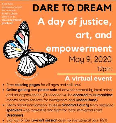 Dare to Dream: A day of justice, art, & empowerment: Now Virtual!
