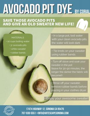 Virtual Tutorial: Avocado Pit Dye