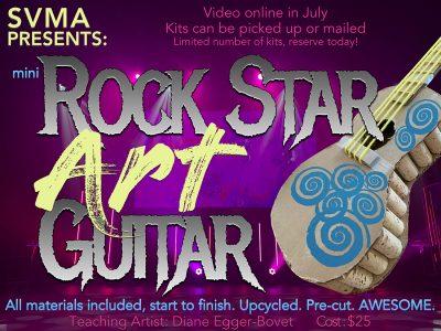 SVMA Summer Fun Programs - Mini Rock Star Art Guitar