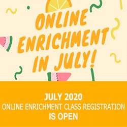 July Creative Online Classes for Kids