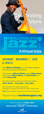 Healdsburg Jazz's 2020 Virtual Gala: Celebrating the Future