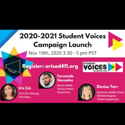 WEBINAR: Student Voices Campaign Launch Event