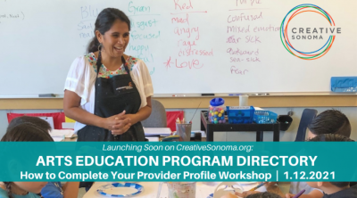 Arts Education Program Directory - How to Create Your Provider Profile Workshop
