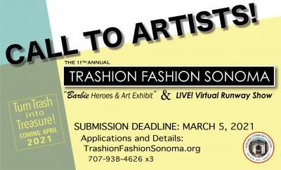 CALL FOR ARTISTS: Trashion Fashion Sonoma 2021