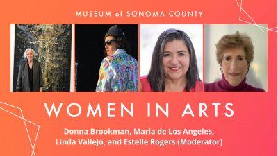 (Virtual) Women in Arts: Donna Brookman, Maria de Los Angeles, Linda Vallejo