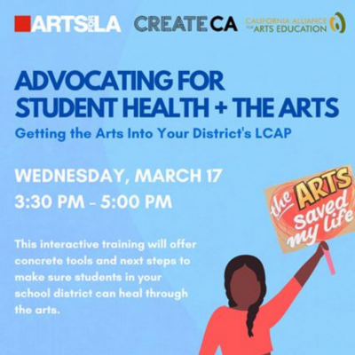 TRAINING: Advocating for Student Health & the Arts