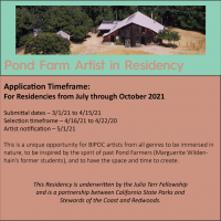 CALL TO BIPOC ARTISTS: Pond Farm Artist in Residency