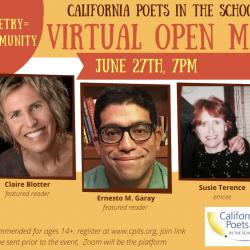 California Poets in the Schools' Open Mic