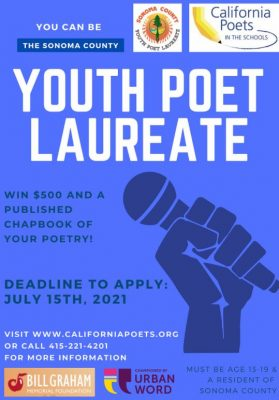 APPLICATION OPEN: Next Youth Poet Laureate of Sonoma County
