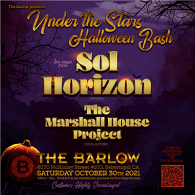 Barlow Presents Under the Stars Halloween Bash ft. Live Music by Sol Horizon