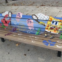 A Place to Play Art Bench