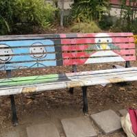 Community Media Center Art Bench
