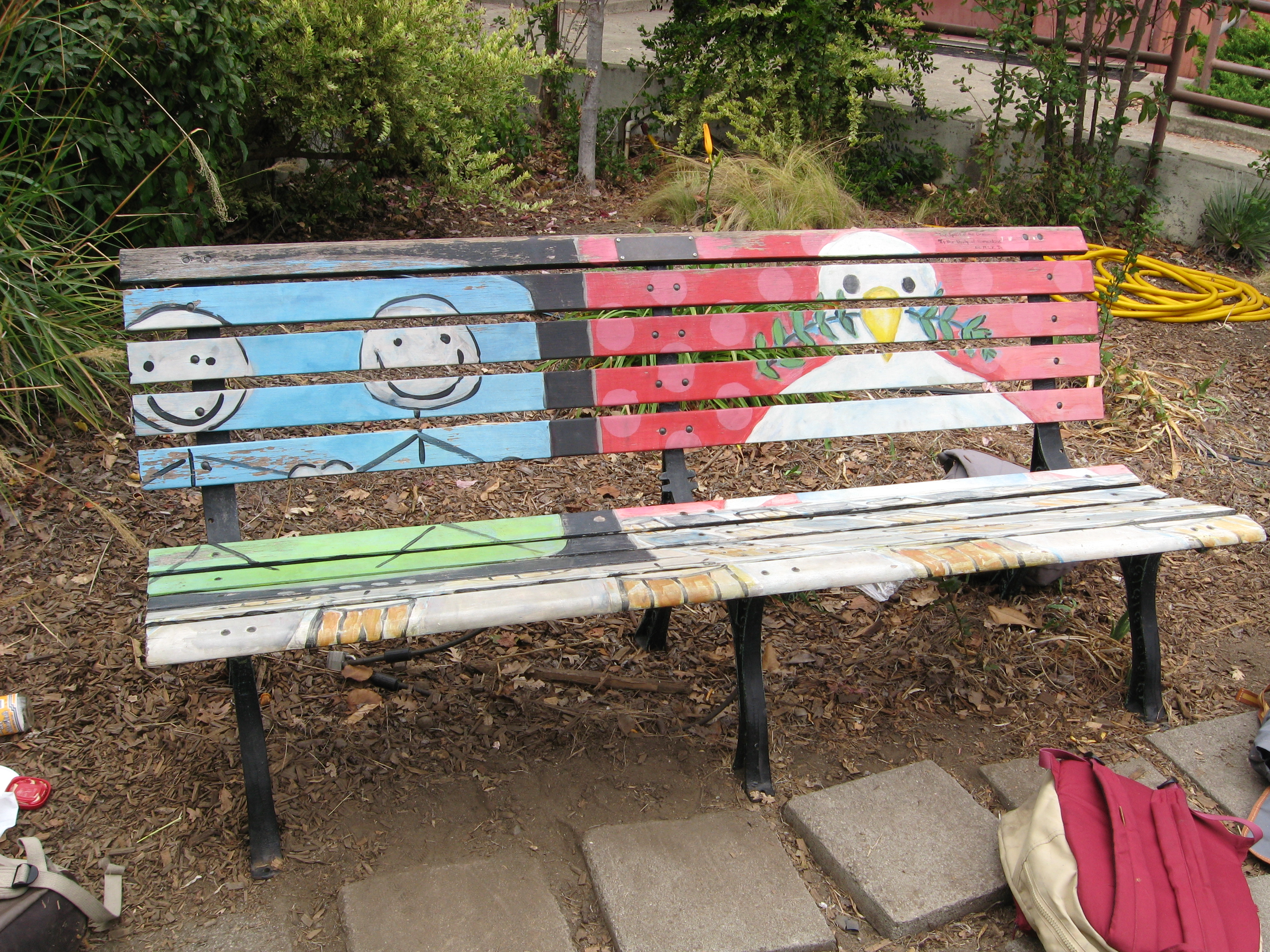Community Media Center Art Bench