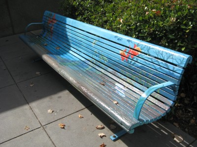 Finley Aquatic Center Art Bench,