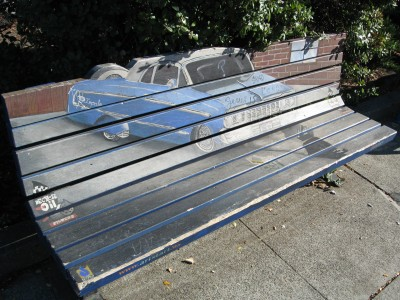 Mendocino Avenue Art Bench