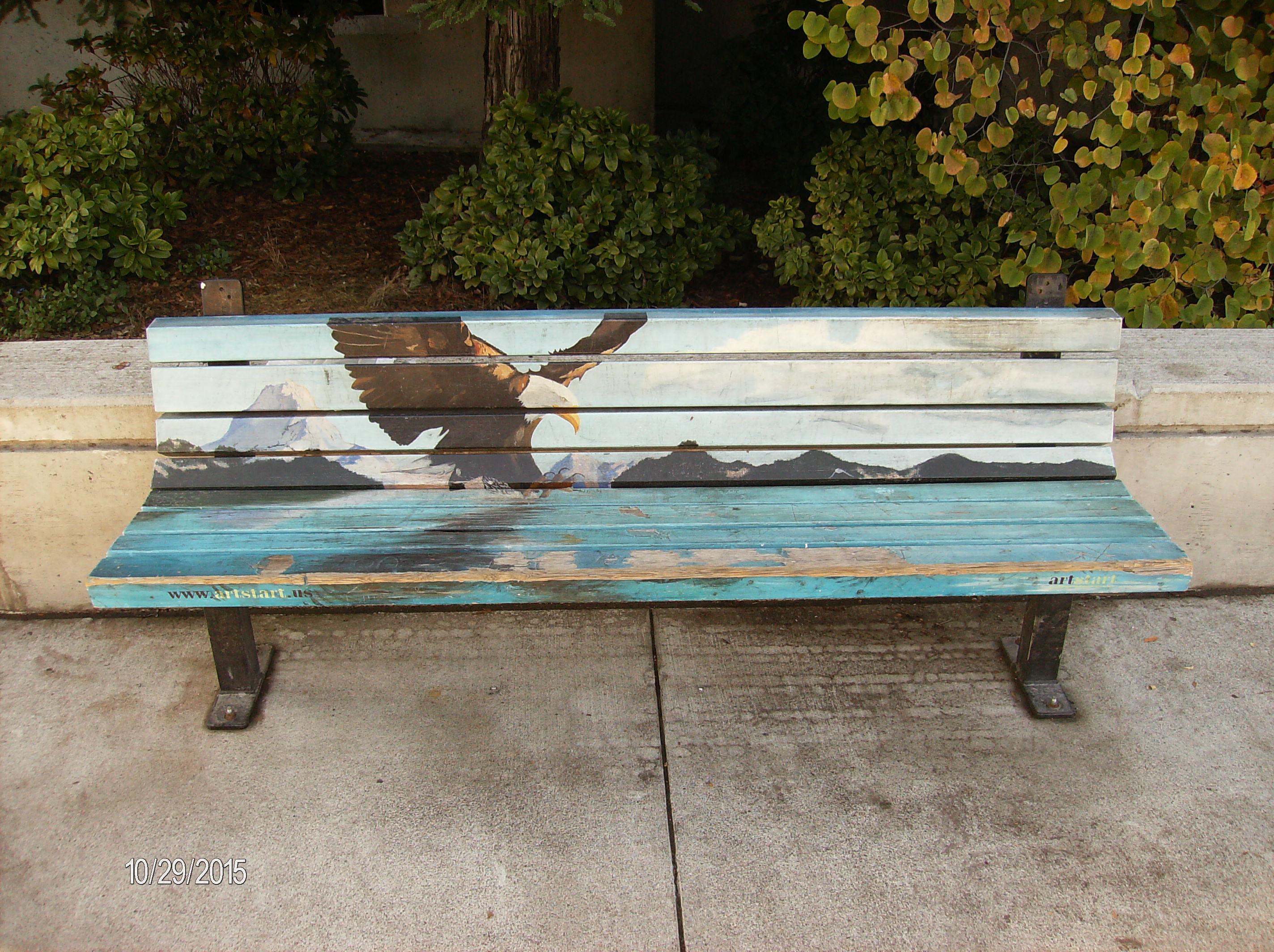 Santa Rosa Junior College Art Bench