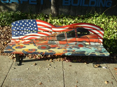 Sonoma Avenue Art Bench