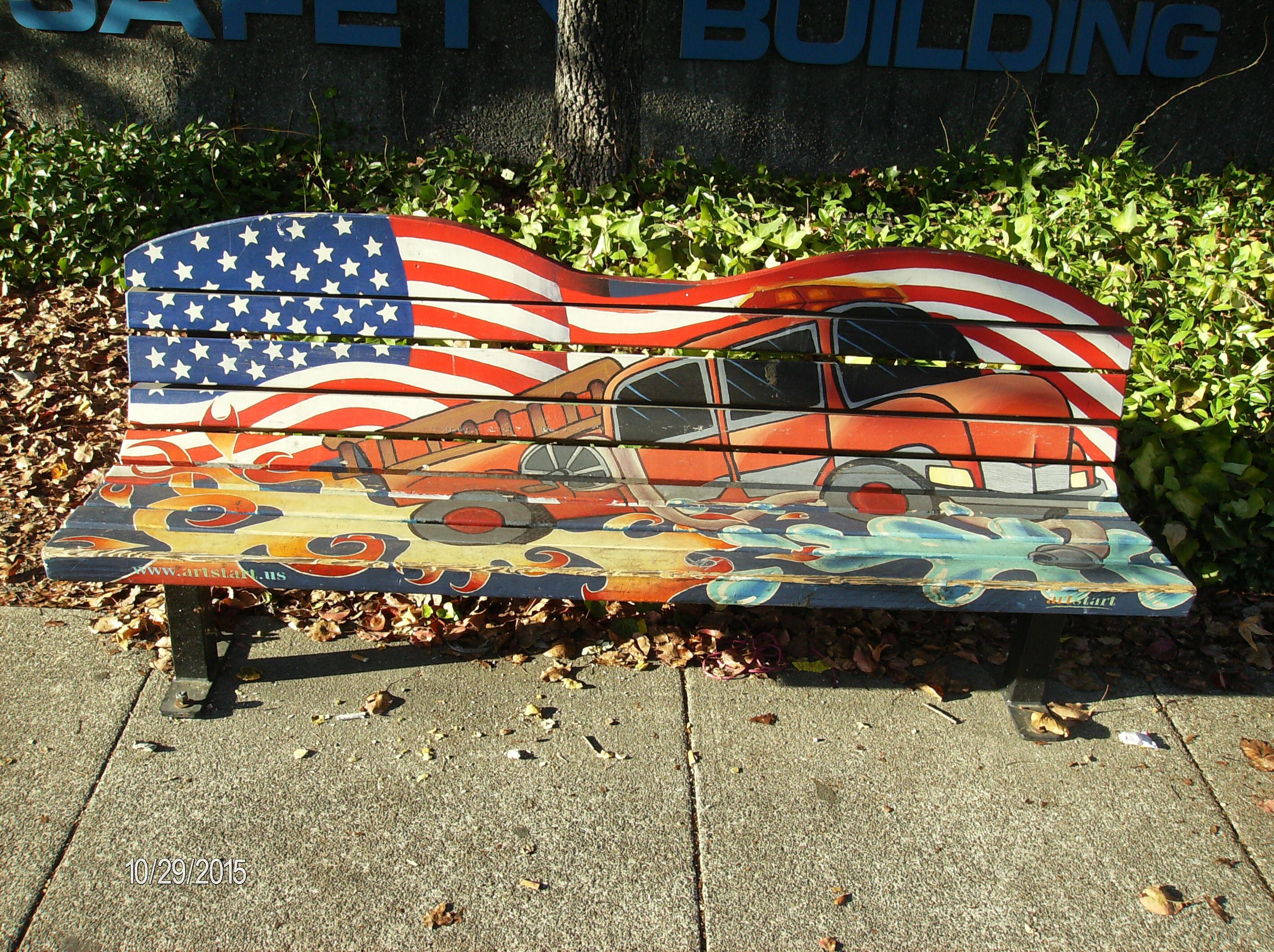 Sonoma Avenue Art Bench
