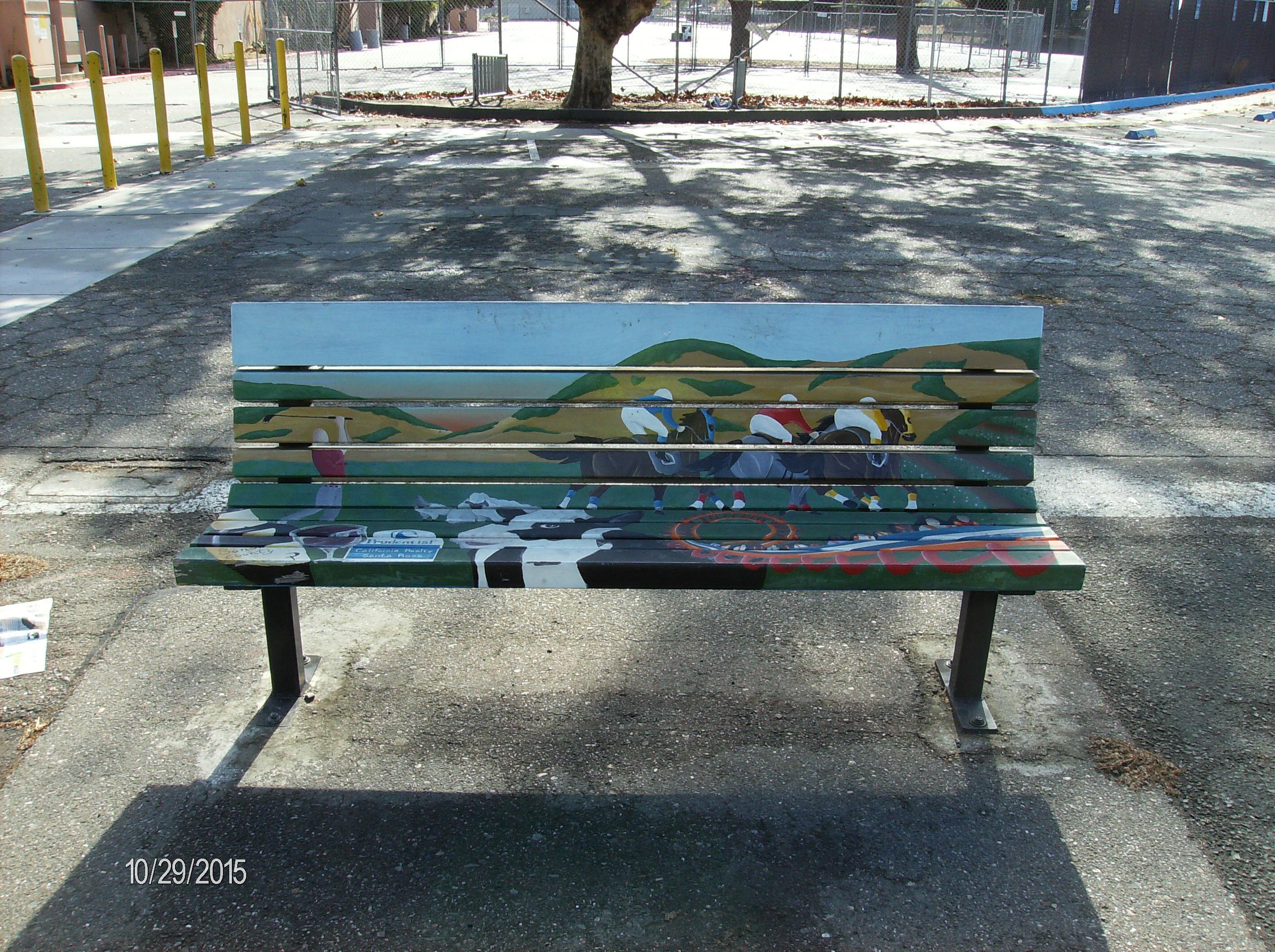 Sonoma County Fairgrounds Art Bench