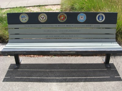 Veteran's Memorial Art Bench